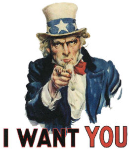 Uncle Sam World War 2 I want you poster