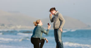beach proposal photo